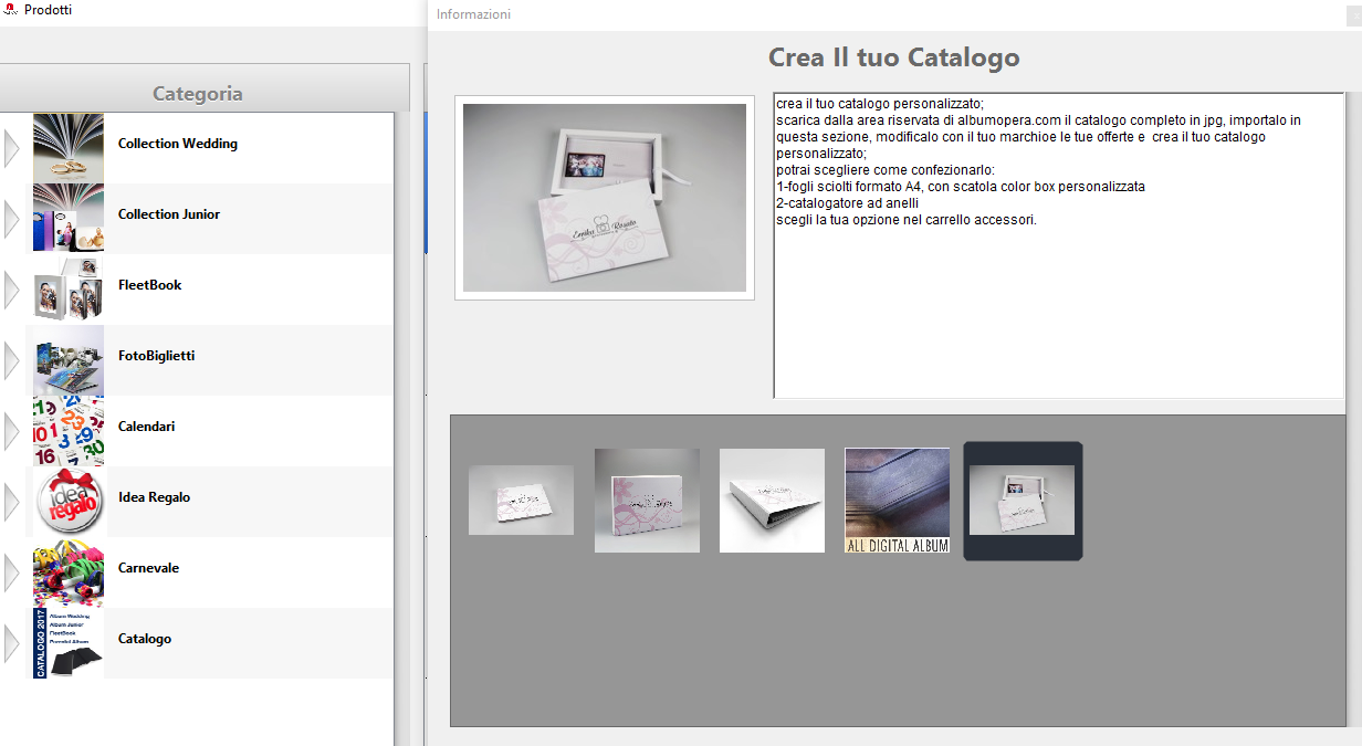 Crea Catalogo - Step 1